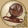 LARP Round leather bag